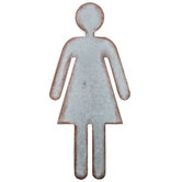 Woman Galvanized Metal Wall Decor